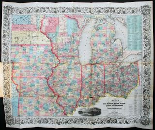 The Western Tourist and Emigrant's Guide through the States of Ohio, Michigan, Indiana, Illinois, and Missouri, Iowa and Wisconsin, and the Territories of Minesota [sic.], Missouri, and Nebraska ... Accompanied with a large and minute Map