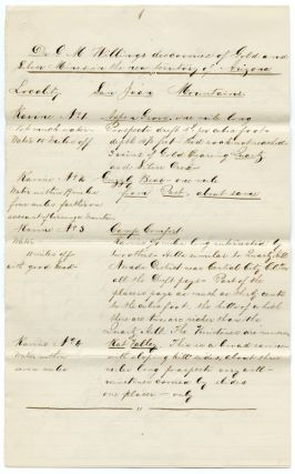 "Contemporary Copy of a Manuscript Letter from George M. Willing to the editor of the ""United..."