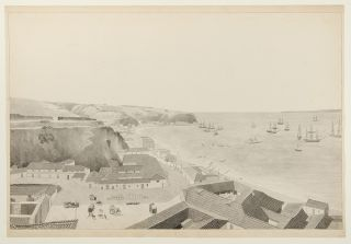 A series of watercolour views in Brazil and Chile, accomplished by an American naval officer,...