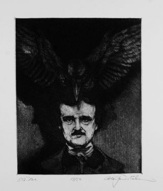 The Raven by Edgar Allen Poe Etchings and wood engravings by Alan James Robinson