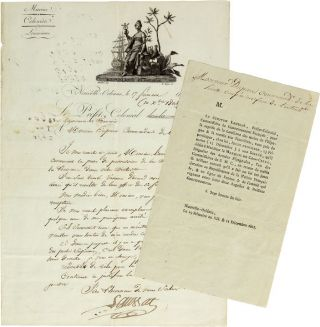 Manuscript letter signed, from Laussat, the French Colonial Prefect of Louisiana, to Captain...