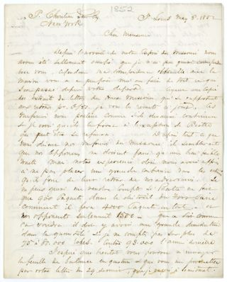 Autograph Letter, Signed, from Joseph Sire to Pierre Chouteau regarding competition in the fur...
