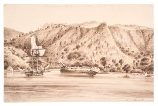 Richmond Hill, Grenada. Original signed pencil and wash drawing, titled in pencil 'Richmond Hill Grenada July 1850'. Walford Thomas BELLAIRS.