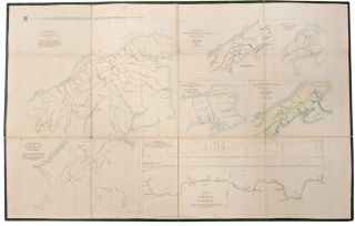 North American Boundary: Maps A and B, appended to the report of the British Commissioners, appointed in 1839, to survey and explore the Territory in dispute between the governments of Great Britain and the United States of America, under the second article of the Treaty of 1783