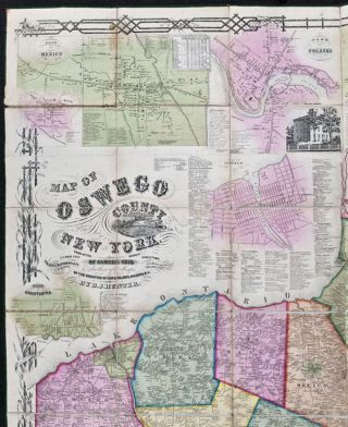Map of Oswego County, New York, from actual surveys under the direction of Samuel Geil ... by...