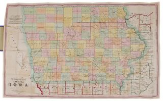 A Township Map of the State of Iowa Compiled from the United States Surveys, official information and personal reconnaissance, showing the streams, roads, towns, post offices, county seats, works of internal improvement, &c., &c