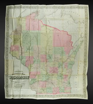 Chapman's Sectional Map of Wisconsin. Silas CHAPMAN.