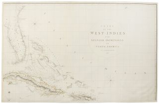 Chart of the West Indies and Spanish Dominions in North America ... To Admiral John Willett...