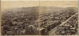Panorama of San Francisco from California St. Hill. Eadweard James MUYBRIDGE