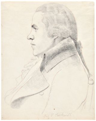 Two Pencil Sketches by William Daniell, after Architect George Dance, showing the artists William...