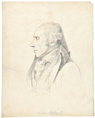 [Two Pencil Sketches by William Daniell, after Architect George Dance, showing the artists William Hodges and Samuel Pepys Cockerell]