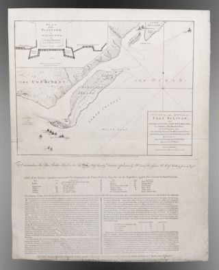 A Plan of the Attack of Fort Sulivan, near Charles Town in South Carolina. by a Squadron of His...