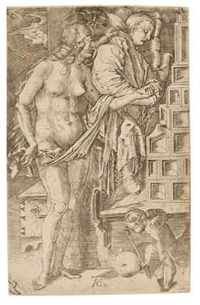 Temptation of the Idler or Dream of the Doctor. Albrecht DURER