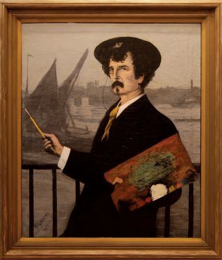 Portrait of James Abbott McNeill Whistler in front of the Thames]. Walter GREAVES, British