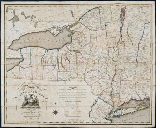 Map of the State of New York by Simeon De Witt Surveyor General Contracted from his large Map of...