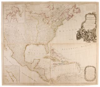 A New Map of North America, with the West India Islands. Divided according to the preliminary...