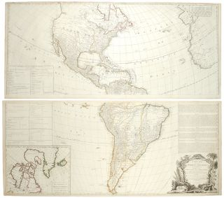 A New Map of the Whole Continent of America, divided into North and South America and West...