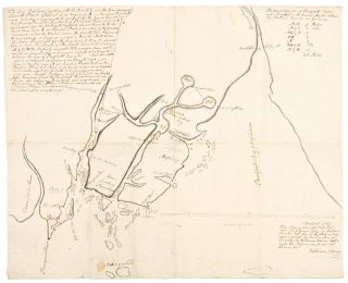 "Manuscript map of the ""Waldo Patent"" principally depicting the land between the Muscongus River..."