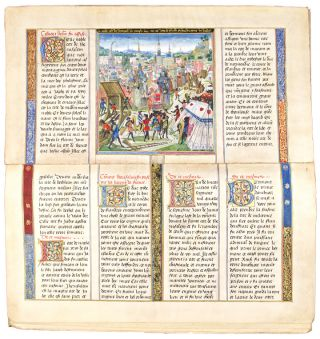 Cy Comencent Les Chroniques de Jherusalem Abregies [manuscript facsimile of the original Chronicles of the Crusades in the Austrian National Library]
