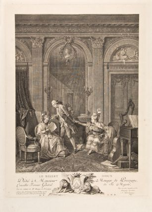Le Billet Doux. Nicolas after Nicolas LAVREINCE DE LAUNAY