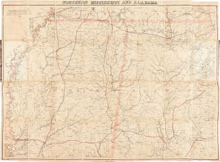 Northern Mississippi and Alabama. CIVIL WAR, Adolph - LINDENKOHL