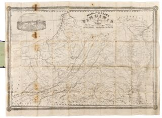 Map of the State of Virginia containing the counties, principal towns, railroads, rivers,...