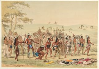 Archery of the Mandans. George CATLIN
