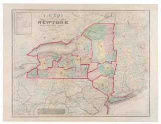 Map of the State of New York and the Surrounding Country. David BURR