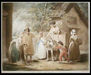 Selling Peas. after George MORLAND BELL, 1763 - 1804, dward