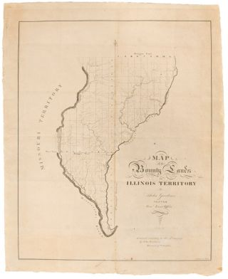 Map of the Bounty Lands in Illinois Territory. John GARDINER, d. 1839