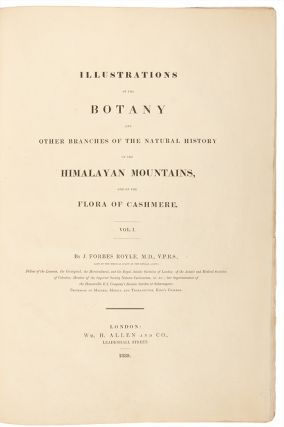 Illustrations of the Botany and other branches of the Natural History of the Himalayan Mountains, and of the Flora of Cashmere