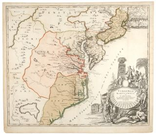 Virginia, Marylandia et Carolina in America Septentrionali Britannorum industria excultae...