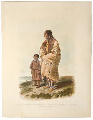 Dacota Woman and Assiniboin Girl. Karl BODMER