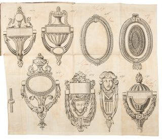 Early English trade catalogue of brass furniture hardware designs]. English 18th century BRASS...