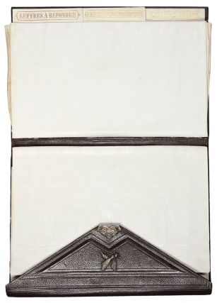 [French morocco wallet-style secretary binding with silver clasp]