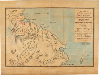 Sketch of the Town & Environs of Port Louis Explanatory of the Operations of the British Army...