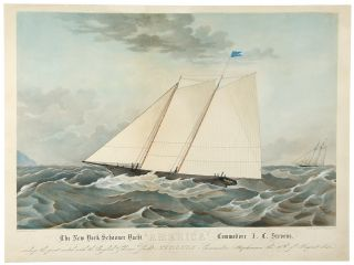 "The New York Schooner Yacht ""America"" Commodore J. C. Stevens, sailing the great match with the..."