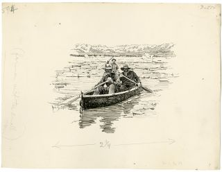 [Sixty-two Original Ink Drawings Illustrating the Harriman Alaska Expedition, 1899]