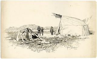 Sixty-two Original Ink Drawings Illustrating the Harriman Alaska Expedition, 1899]. William Edgar...