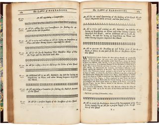 Acts of Assembly, passed in the Island of Barbadoes [sic], From 1648, to 1718. BARBADOS