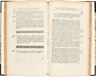 Acts of Assembly, Passed in the Island of Montserrat; from 1668, to 1740, Inclusive. [bound with]: Acts of Assembly, Passed in the Charibbee Leeward Islands, from 1690, to 1705.