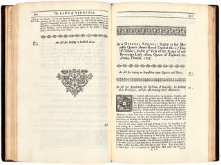 Acts of Assembly, Passed in the Colony of Virginia, from 1662, to 1715. Volume I. [All published]