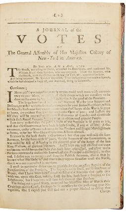 Journal of the Votes of the General Assembly of Her Majesties Colony of New-York in America...