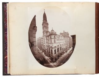 Album containing 154 albumen photographs of Chicago by a noted photographer, including important...