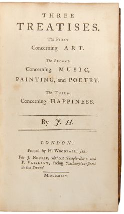 Three Treatises. The First Concerning Art. The Second Concerning Music, Painting and Poetry. The...