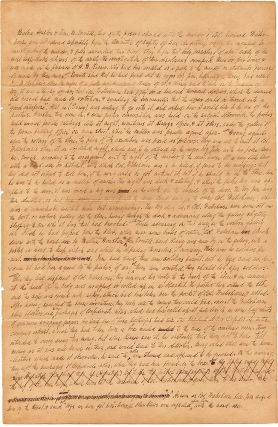[Autograph Document, Signed, Regarding Testimony in the Murder Case of Richard E. Waterhouse of San Augustine, Texas].