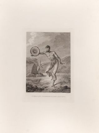 A Man of the Sandwich Islands, Dancing. CAPTAIN COOK'S THIRD VOYAGE, John WEBBER, artist