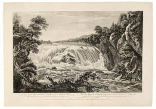 A View of the Great Cohoes Falls, on the Mohawk River; The Fall about Seventy feet, the River...