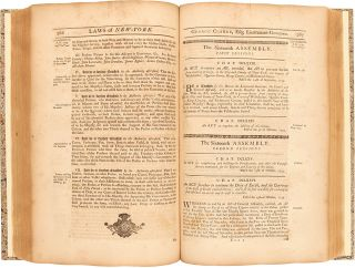 Laws of New-York, from the Year 1691, to1751, Inclusive, Published According to an Act of the General Assembly. [with:] Laws of New-York, from the 11th NOV. 1752, to 22d MAY 1762