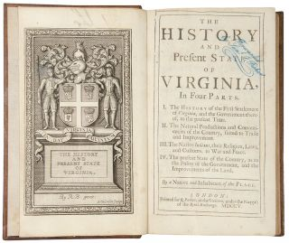 The History and Present State of Virginia, in four parts ... By a native and inhabitant of the...